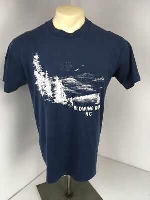VTG 80s Blowing Rock North Carolina Wilderness Forest Vacation Souvenir Sz L S/S