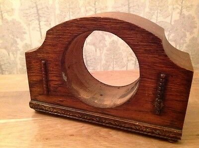 "Antique Vintage  Mantle Clock Case For Repair  8x5x3"" Aperture 3 3/4"" Incl Chime"
