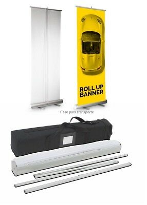 Retractable roll up banner stand + print included