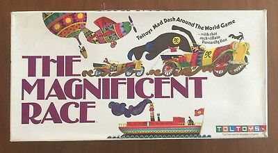 THE MAGNIFICENT RACE Board Game TOLTOYS Retro Game Vintage Rare