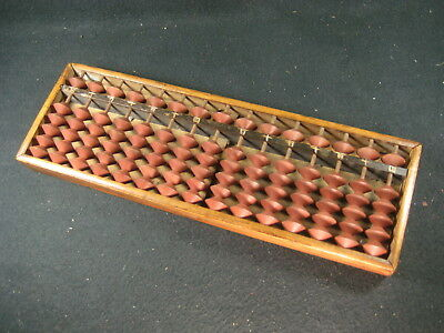 Antique Japanese Wooden Older Abacus 5 Bead Style Soroban