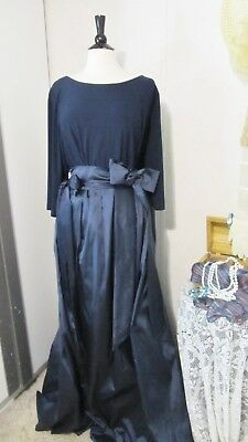 Mother Of The Bride Dress by Adrianna Papell-Size 24W- Navy Blue