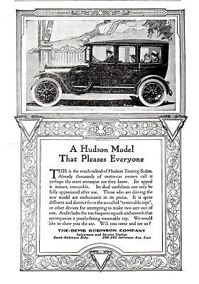 1914 Hudson Motor Car Co, Detroit, Michigan Sedan Automobile Advertisement