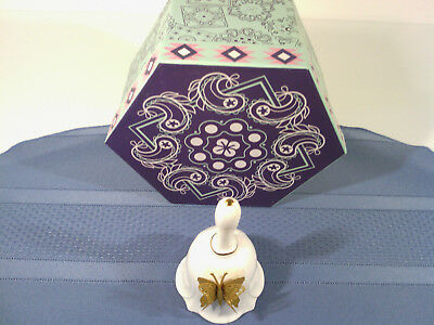Lefton Bone China Bell with Butterfly on Side - GW-8