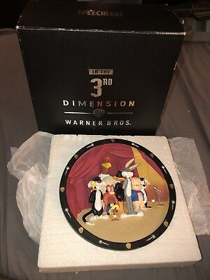"""Plate- """"SPEECHLESS"""" In 3-D 1997 Tribute To MEL BLANC #28 of 2500 In Original Box"""