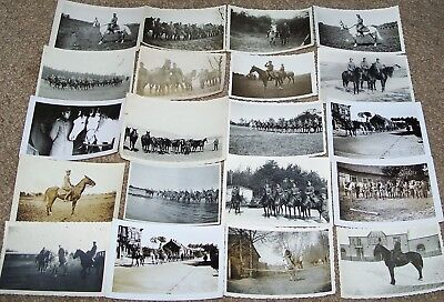 Lot Of 20 Original Ww2 German Photos: Soldiers & Officers With Horses