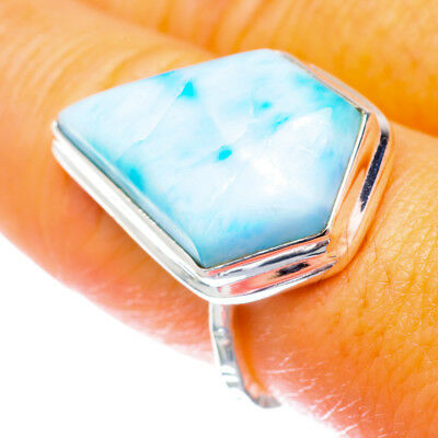 Larimar 925 Sterling Silver Ring Size 7.5 Ana Co Jewelry R896372