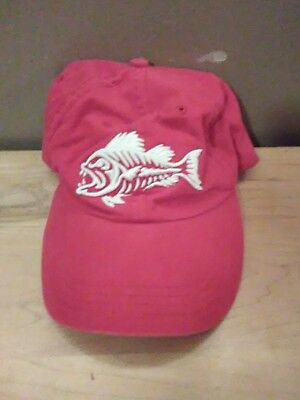 Budweiser red hat white ebroidered fish and embroidered logo on back adjustable