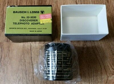 Bausch & Lomb No. 22-3030 Discoverer Telephoto Adapter, NEW NIB