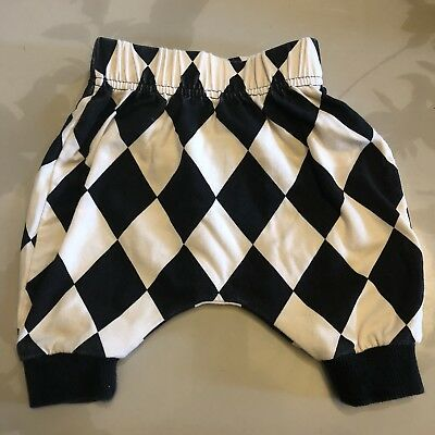Rock Your Baby Harlequin Pants Black And White- Size 0 - 3 M RYB Pants