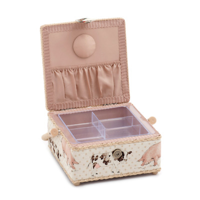 Hobby Gift 'Farmyard' Small Square Sewing Box 20 x 20 x 11cm (d/w/h)