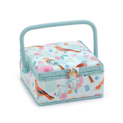 Hobby Gift 'Birdsong' Small Square Sewing Box 20 x 20 x 11cm (d/w/h)