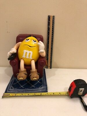 Yellow Peanut M&m  Recliner With Remote Candy Dispenser Collectible