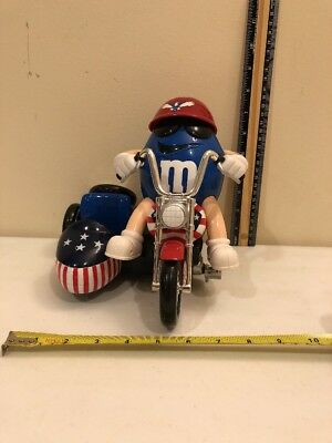 M & M Patriotic 'freedom Rider' Motorcycle With Sidecar Candy Dispenser Large