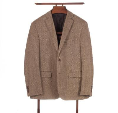 POLO RALPH LAUREN Corneliani 3/2 Roll Gold Raw Silk Herringbone Jacket 42S Italy