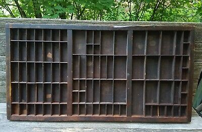 Antique The Hamilton Mfg Co. Ink Typeset Letter Tray - Wood Setters Drawer