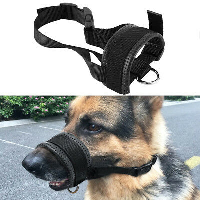 Soft Nylon Pet Dog Muzzle Mouth Grooming No Bark Bite Adjustable Safety L/XL/XXL