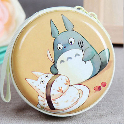 Totoro Mini Coin Purse Wallet Round Pouch Cute Headphone Bag Collectibles NO.3