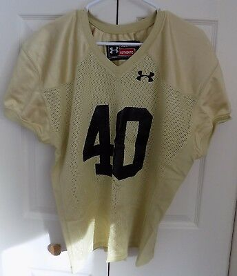 Boy's UNDER ARMOUR Gold Football Jersey Size Youth Large L