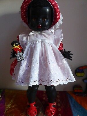 Vintage 1950's Pedigree Hp Black Toddler  Doll 20 Inches