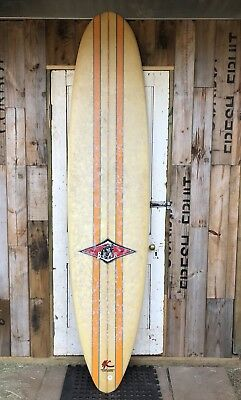 Vintage  Retro Bear Longboard Surf Board.