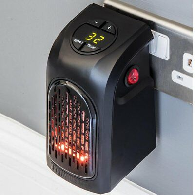 110 220v 350w portable electric heater fan wall outlet handy air warmer blower eur 13 13. Black Bedroom Furniture Sets. Home Design Ideas