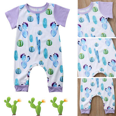 Newborn Infant Baby Boy Girl Cactus Romper Jumpsuit Playsuit Outfit 6 12 18 24M