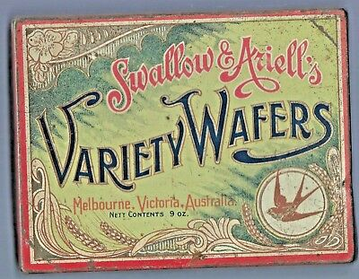 Vintage Swallow & Ariell's VARIETY WAFERS  Melbourne, Victoria Australia