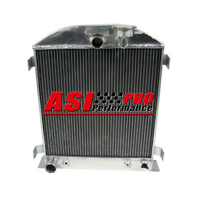 4 ROW Aluminum Radiator For Ford hot rod chopped w/ Ford 302 V8 engine 1928-1932
