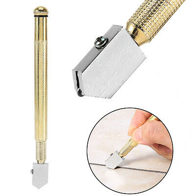 Cutting Tool Diamond Tip Antislip Metal Handle Steel Blade Oil Feed Glass Cutter