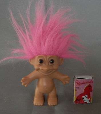 Vintage  Russ Troll  Doll with Pink hair good condition as shown