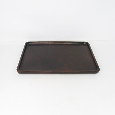 D077: Popular Japanese KARAKI wooden tray made from one wood without joint