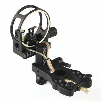 0.019 Fibre Optic 5 Pin Bow Sight For Compound Bow W/ Led Light Black/Camo
