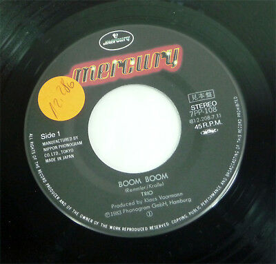 "TRIO - 1983 JAPAN 7"" Vinyl NDW 45 ""Boom Boom"" Mercury unplayed"