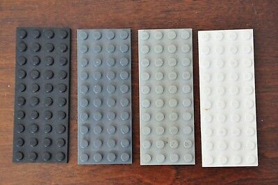 8x Lego base plates Boards 4 x 10 Black Grey White Blue Red Green Mix and match