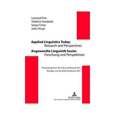 Applied Linguistics Today: Research and Perspectives - Angewandte Linguistik ...