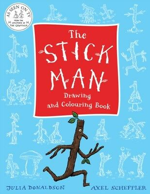 STICK MAN DRAWING & COLOURING BOOK