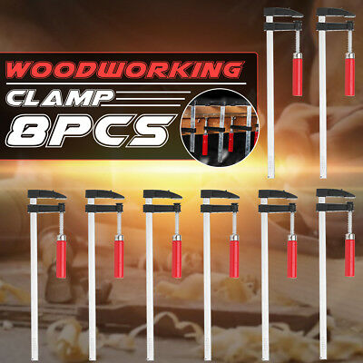 8X F Clamp Building Profile Heavy Duty Woodworking Hand Tool Wood 3 Size