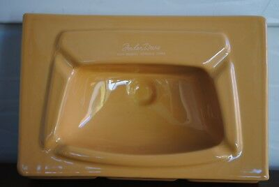 Fowler Ware High Density Vitreous China Bathroom Sink Caramel Coloured Ashtray