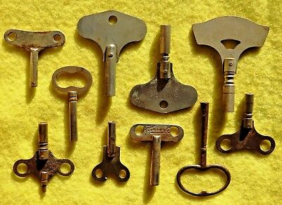 Vintage Clock Key Collection