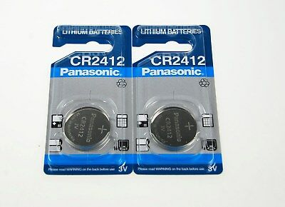 2x CR2412 Panasonic Knopfzelle Batterie 2412   DL2412 KL2412