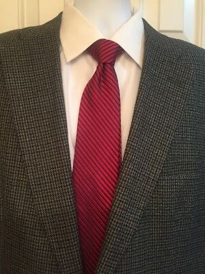 Haggar Houndstooth Mens Blazer 46R Excellent Condition