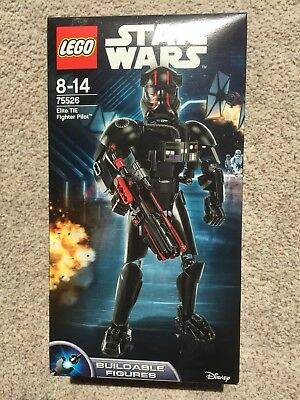 Lego Star Wars 75526 Elite TIE Fighter Pilot Buildable Figure BRAND NEW SEALED