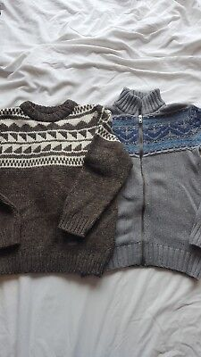 2 x Boys knitted jumpers Age 9-10 Zara and Gap