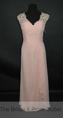NEW! Mother of the Bride Mary's 2702 Size 14 Blush Chiffon Lace Long Dress