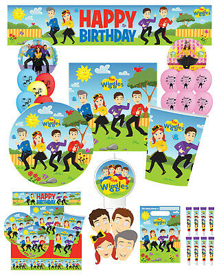 The Wiggles Party Supplies Choose Cups Plates Napkins Banners Balloons Packs