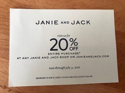 Janie and Jack Coupon- 20% Off
