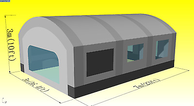 custom made giant 23ft x 16ft x10ft portable cloth inflatable spray paint booth