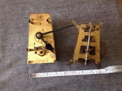 Antique Clock Movements A Frame Style To Restore Or For Spare Parts