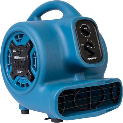 Portable Air Mover Floor Dryer Utility Blower Fan 3 Speeds 4 Positions 1/5 HP